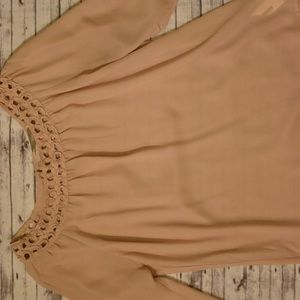 Light pink sheer long sleeve forever 21 blouse